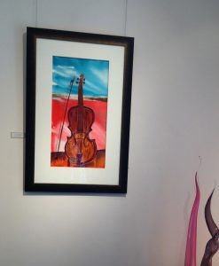 the-red-gypsy-violin-framed