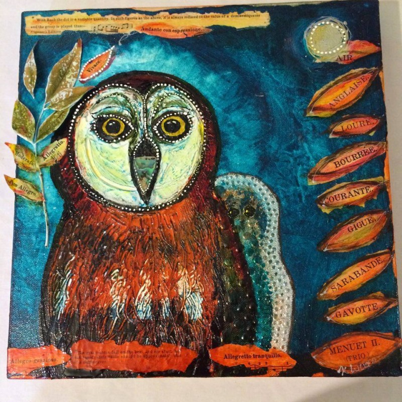 BACHing Owl in the 1914 Key of See. karin luciano